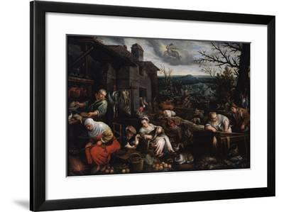 November' (From the Series 'The Seasons), Late 16th or Early 17th Century-Leandro Bassano-Framed Giclee Print