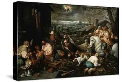 January' (From the Series 'The Seasons), Late 16th or Early 17th Century-Leandro Bassano-Stretched Canvas Print