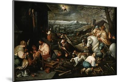 January' (From the Series 'The Seasons), Late 16th or Early 17th Century-Leandro Bassano-Mounted Giclee Print