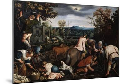 October' (From the Series 'The Seasons), Late 16th or Early 17th Century-Leandro Bassano-Mounted Giclee Print