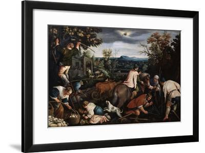 October' (From the Series 'The Seasons), Late 16th or Early 17th Century-Leandro Bassano-Framed Giclee Print