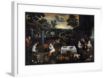 July (From the Series the Seasons), Late 16th or Early 17th Century-Leandro Bassano-Framed Giclee Print