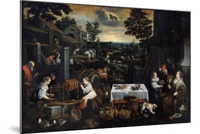 July (From the Series the Seasons), Late 16th or Early 17th Century-Leandro Bassano-Mounted Giclee Print