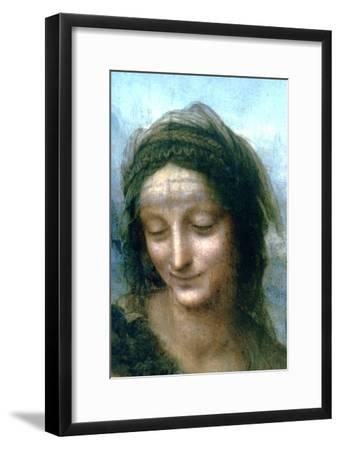 Virgin and Child with St Anne (Detail), 1502-1516-Leonardo da Vinci-Framed Premium Giclee Print