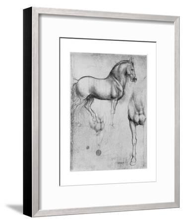 Studies of Horses, C1490-Leonardo da Vinci-Framed Premium Giclee Print