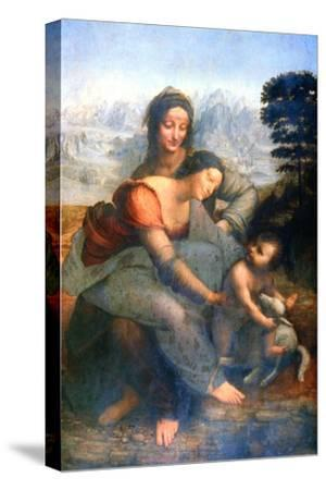 Virgin and Child with St Anne, 1502-1516-Leonardo da Vinci-Stretched Canvas Print