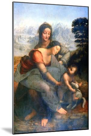 Virgin and Child with St Anne, 1502-1516-Leonardo da Vinci-Mounted Giclee Print