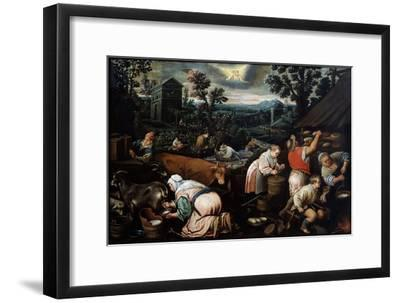 May (From the Series 'The Seasons), Late 16th or Early 17th Century-Leandro Bassano-Framed Giclee Print