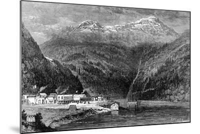 The Fraser River, British Columbia, Canada, 19th Century- Leitch-Mounted Giclee Print