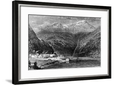 The Fraser River, British Columbia, Canada, 19th Century- Leitch-Framed Giclee Print