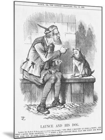 Launce and His Dog, 1885-Joseph Swain-Mounted Giclee Print