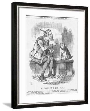 Launce and His Dog, 1885-Joseph Swain-Framed Giclee Print