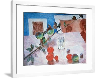Still Life in Pink, 1918-Kuz'ma Petrov-Vodkin-Framed Giclee Print