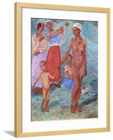 Morning, 1917-Kuz'ma Petrov-Vodkin-Framed Giclee Print