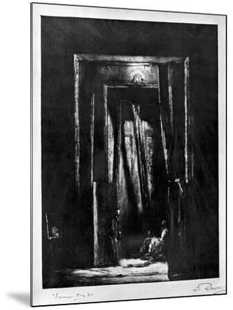 The Sinister Interior, 1930-L Daviel-Mounted Giclee Print