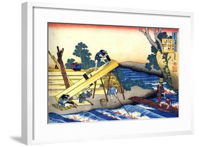 From the Series Hundred Poems by One Hundred Poets: Harumichi No Tsuraki, C1830-Katsushika Hokusai-Framed Giclee Print