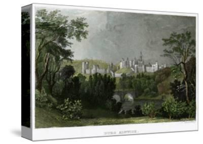 Alnwick Castle, Northumberland, 18th-19th Century-L Kunstvortag-Stretched Canvas Print