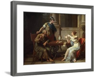 Socrates and Alcibiades at Aspasia, 1801-Nicolas Andre Monsiau-Framed Giclee Print