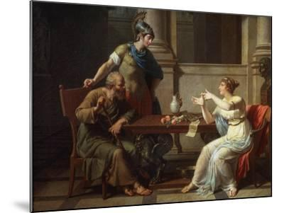Socrates and Alcibiades at Aspasia, 1801-Nicolas Andre Monsiau-Mounted Giclee Print
