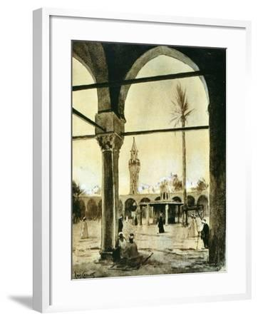 Mosque, Cairo, Egypt, 1928-Louis Cabanes-Framed Giclee Print