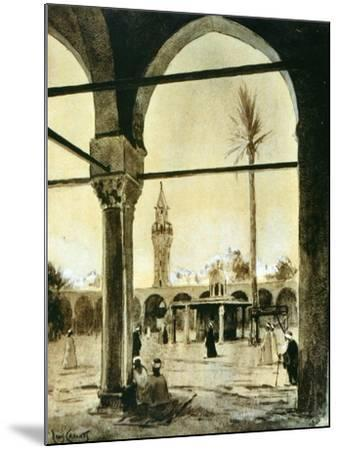 Mosque, Cairo, Egypt, 1928-Louis Cabanes-Mounted Giclee Print