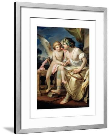 Poet's Inspiration, 1785-Mariano Rossi-Framed Giclee Print