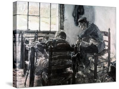 Workshop of the Shoe Maker, 1881-Max Liebermann-Stretched Canvas Print
