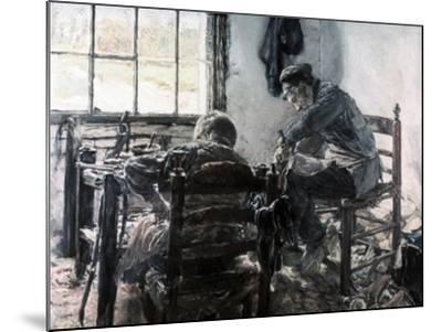 Workshop of the Shoe Maker, 1881-Max Liebermann-Mounted Giclee Print