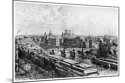 Paris Pris Du Louvre, C1850-1895-Maxime Lalanne-Mounted Giclee Print