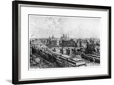 Paris Pris Du Louvre, C1850-1895-Maxime Lalanne-Framed Giclee Print