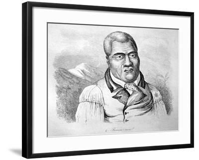 Kamehameha I, C1770-1819-Ludwig Choris-Framed Giclee Print