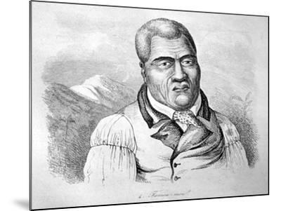 Kamehameha I, C1770-1819-Ludwig Choris-Mounted Giclee Print