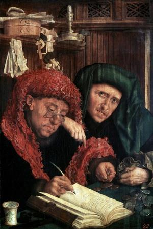 The Tax Collectors, Between 1490 and 1567-Marinus Van Reymerswaele-Stretched Canvas Print