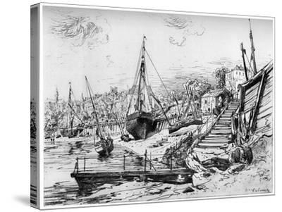 Concarneau, C1850-1895-Maxime Lalanne-Stretched Canvas Print