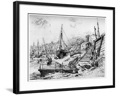 Concarneau, C1850-1895-Maxime Lalanne-Framed Giclee Print