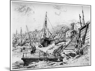 Concarneau, C1850-1895-Maxime Lalanne-Mounted Giclee Print