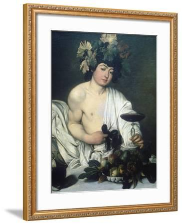 Bacchus, C1597-Caravaggio-Framed Giclee Print
