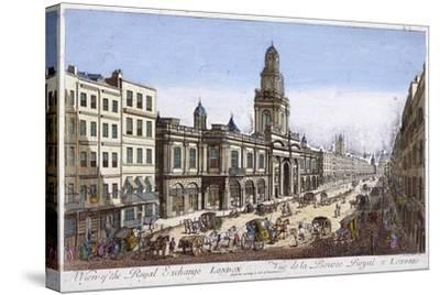 Royal Exchange (2N) Exterior, London, 1761-Mothey Lairee-Stretched Canvas Print