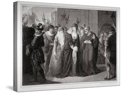 Lady Jane Grey Being Led to Her Execution at the Tower of London, 1554-Mountague Tomkins-Stretched Canvas Print