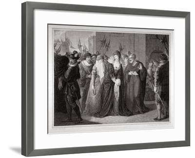 Lady Jane Grey Being Led to Her Execution at the Tower of London, 1554-Mountague Tomkins-Framed Giclee Print
