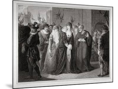 Lady Jane Grey Being Led to Her Execution at the Tower of London, 1554-Mountague Tomkins-Mounted Giclee Print