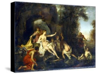 Diana and Actaeon, 1732-Louis Galloche-Stretched Canvas Print