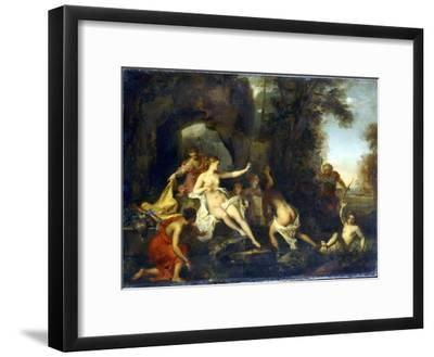 Diana and Actaeon, 1732-Louis Galloche-Framed Giclee Print