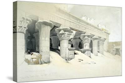 Portico of the Sandstone Temple of Edfu Dedicated to the Falcon-Headed God Horus, Egypt, 1838-Louis Haghe-Stretched Canvas Print