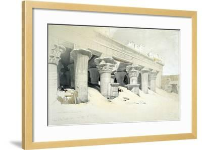 Portico of the Sandstone Temple of Edfu Dedicated to the Falcon-Headed God Horus, Egypt, 1838-Louis Haghe-Framed Giclee Print