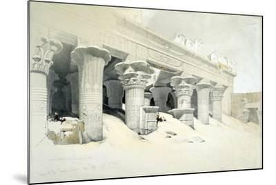 Portico of the Sandstone Temple of Edfu Dedicated to the Falcon-Headed God Horus, Egypt, 1838-Louis Haghe-Mounted Giclee Print