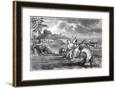 The Cerastae Changed into Bulls, and the Propoetides into Rocks-Martin Bouche-Framed Giclee Print