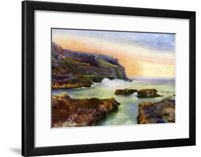 The Cliff, Castlerock, Londonderry, Northern Ireland, 1924-1926-MC Green-Framed Giclee Print