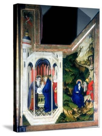 The Presentation at the Temple and the Flight into Egypt, 1394-1399-Melchior Broederlam-Stretched Canvas Print