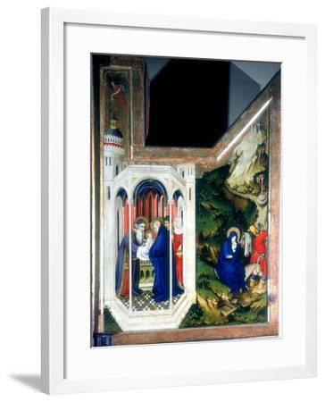 The Presentation at the Temple and the Flight into Egypt, 1394-1399-Melchior Broederlam-Framed Giclee Print
